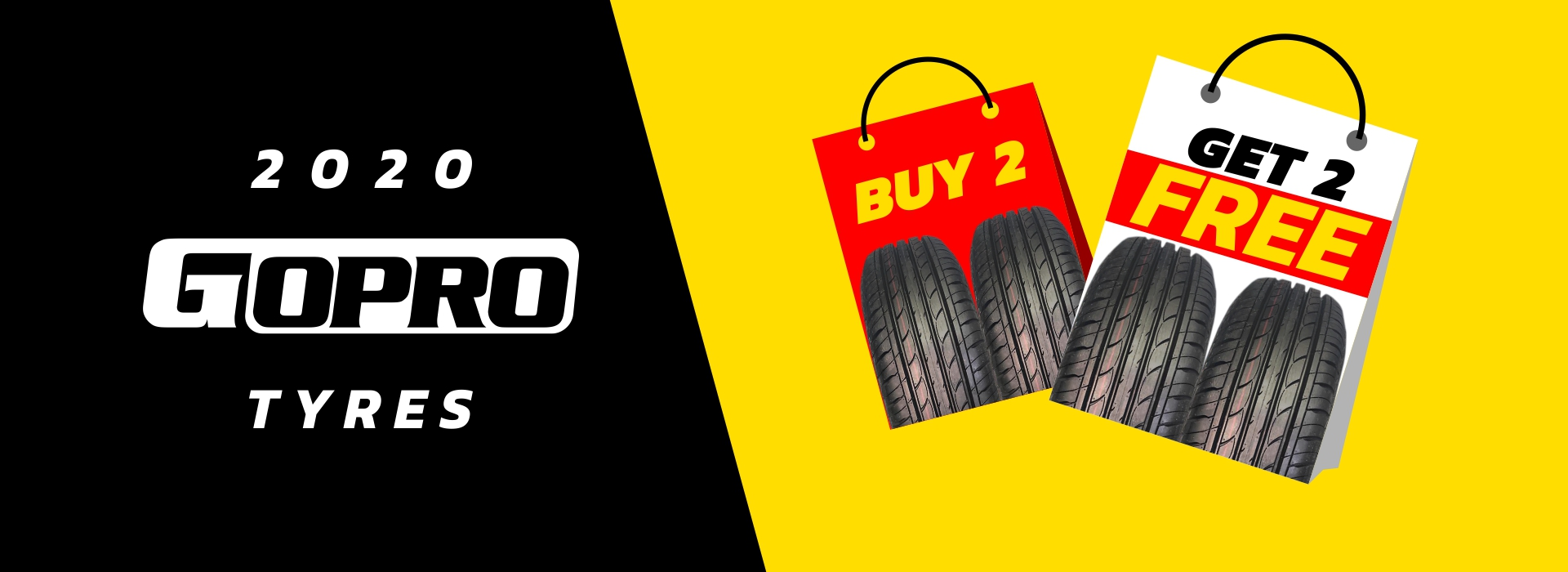 Buy 2 Get 2 Free on 2020 GO Pro Tyres at Stop&Go